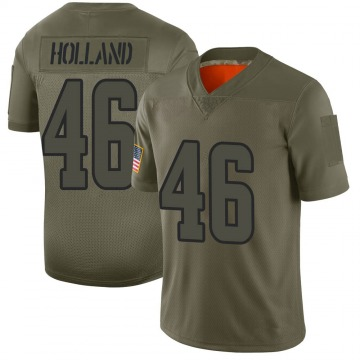 Men's Jeff Holland Los Angeles Rams Limited 2019 Salute to Service Jersey - Camo