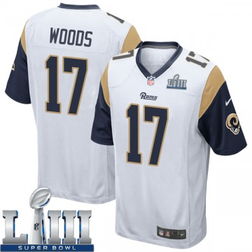 Men's Robert Woods Los Angeles Rams Nike Game Super Bowl LIII Bound Jersey - White
