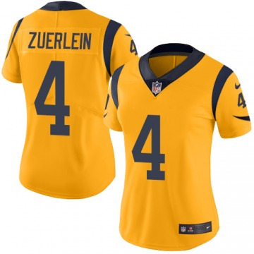 Women's Greg Zuerlein Los Angeles Rams Nike Limited Color Rush Jersey - Gold