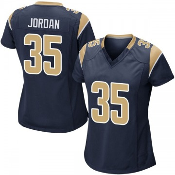 Women's Michael Jordan Los Angeles Rams Nike Game Team Color Jersey - Navy