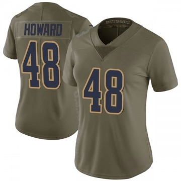 Women's Travin Howard Los Angeles Rams Nike Limited 2017 Salute to Service Jersey - Green