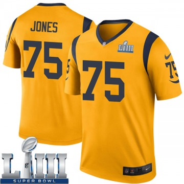 Youth Deacon Jones Los Angeles Rams Nike Legend Color Rush Super Bowl LIII Bound Jersey - Gold